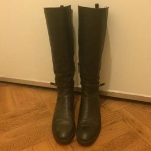 Balenciaga Black Leather Papier Buckled Boots 39